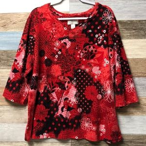C.J. Banks Size 3X lucky lady bug Top